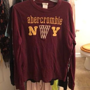 Youth boys size XL Abercrombie Kids l/s maroon top